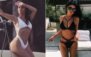 """""""Bỏng mắt"""" với thời trang bikini của ba chị em Kim, Kylie và Kendall"""
