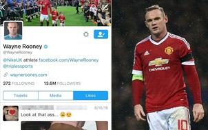 Rooney đỏ bừng mặt vì bị fan phát hiện bấm thích trang web khiêu dâm