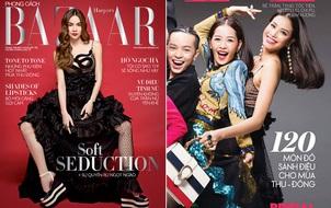 """Hồ Ngọc Hà & Phạm Hương, 2 cái bìa báo nhưng """"chung"""" váy đầm 200 triệu, ai đẹp hơn?"""