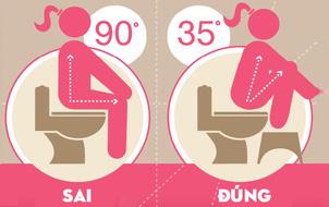 Việc đi vệ sinh đơn giản nhưng hầu hết chúng ta đều đang làm sai