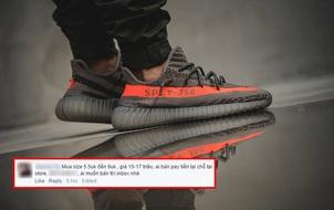 Chưa tới giờ lên kệ, giày Yeezy 350 V2 đã được nhiều bạn trẻ Việt sẵn sàng mua lại với giá 17 triệu VNĐ/đôi