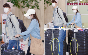 Ahn Jae Hyun - Goo Hye Sun nắm tay không rời, vẽ thông điệp vô cùng dễ thương lên vali đôi