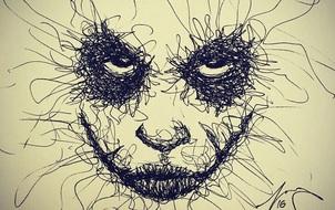 Từ các đường nét nguệch ngoạc, chàng họa sĩ đã tốc họa ra những bức tranh tuyệt vời