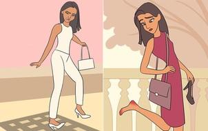 Đây chính là nỗi khổ mà chỉ những cô nàng đi giày cao gót mới hiểu!