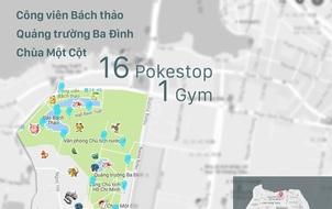 Những địa điểm tập trung nhiều Pokemon nhất tại Việt Nam