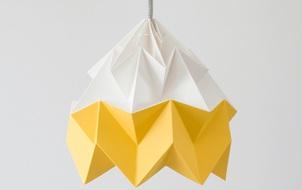 Tỉ mẩn gấp giấy origami làm đèn treo đẹp như quán café