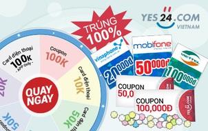 Nhận ngàn thẻ cào điện thoại và phiếu mua hàng giảm giá từ Yes24
