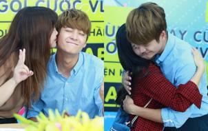 Các fan thoải mái ôm hôn Kang Tae Oh trong buổi giao lưu tại Hà Nội