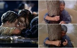 Titanic phiên bản đời thực: Cụ ông buộc vợ vào thân cây, mặc cho bản thân bị nước lũ cuốn trôi