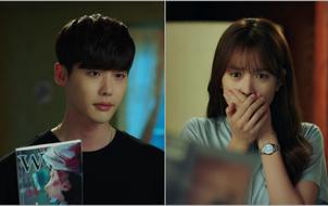 """""""W"""": Han Hyo Joo sửng sốt khi Lee Jong Suk có trong tay quyển W số 34"""