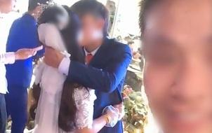 Clip gây tranh cãi: Cô dâu chú rể hôn nhau không dứt gần 3 phút trước tất cả quan khách