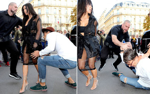 """Vừa sàm sỡ Gigi Hadid, """"nhà báo biến thái"""" lại xông vào hôn vòng 3 Kim Kardashian"""