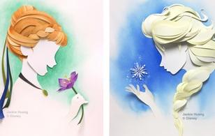 Các nhân vật hoạt hình lung linh trong bộ tranh xếp giấy độc đáo