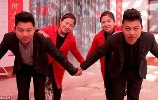 Trung Quốc: Hai cặp vợ chồng song sinh phẫu thuật thẩm mỹ vì… quá giống nhau