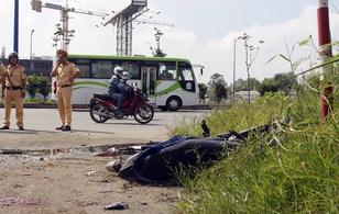 TP. HCM: Nam thanh niên đứt rời thân thể sau khi va chạm với xe container trên xa lộ Hà Nội