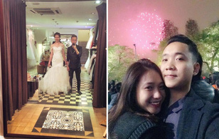 Đăng ảnh thử váy cưới, cặp đôi Trâm Anh và Justa Tee sắp kết hôn?