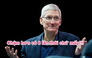 Đừng dại mà mua iPhone 7 dung lượng 32 GB, bởi nó chậm hơn bản 128 GB tới.. 8 lần