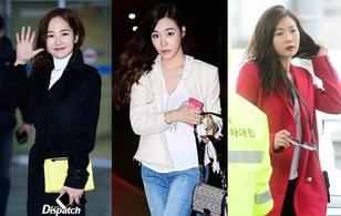 Tiffany (SNSD) mặt khác lạ, Hyuna bỗng đẹp ngây thơ tại sân bay