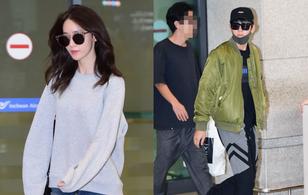 """Bộ đôi nam thanh nữ tú của """"The K2"""" Yoona - Ji Chang Wook đẹp đôi, đầy khí chất tại sân bay"""