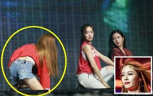 Đau đớn vì ngã sưng cổ chân, Jiyeon biểu diễn khó khăn tại concert T-ara