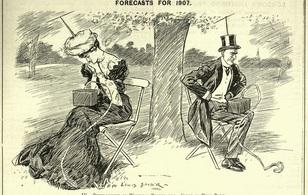 Cách đây cả thế kỷ, bức ảnh này dự đoán đúng cách con người vùi đầu vào điện thoại