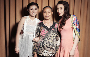 """""""Gà chiến"""" của Hồ Quỳnh Hương được bà ngoại đến ủng hộ tại """"X-Factor"""""""