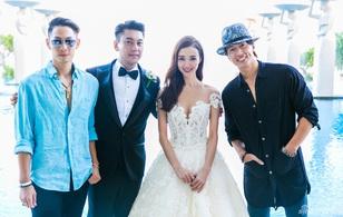 Ngô Kiến Hào - Ngôn Thừa Húc bất ngờ khoác tay nhau xuất hiện tại đám cưới Chu Hiếu Thiên