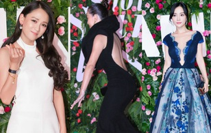 """Trần Kiều Ân đọ sắc cùng dàn mỹ nhân, Hoa hậu Hồng Kông suýt """"vồ ếch"""" trên thảm đỏ"""