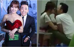 Clip: Trấn Thành - Hari Won lại hôn nhau thắm thiết trong quán ăn