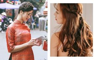 4 kiểu tóc giúp bạn xinh nhất với áo dài dịp Tết này