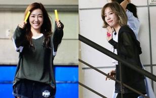 Gác lại lùm xùm, Taeyeon - Yoona (SNSD) vui vẻ tới ủng hộ Tiffany
