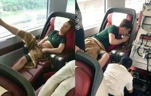 """Dáng ngủ """"thần tiên"""" mang lại hậu quả """"dở khóc dở cười"""" cho Seungri (Big Bang)"""