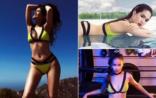 """Bikini của Kylie Jenner gây ra """"cuộc chiến"""" vóc dáng giữa Ngọc Trinh, Khả Ngân..."""