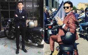 """Mặc suit đi motor: Một phong cách vừa """"ngầu"""" lại vừa """"lịch"""" của các chàng"""