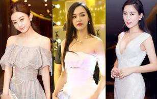 Đường Yên khoe vai trần gợi cảm, đọ sắc cùng Triệu Lệ Dĩnh tại lễ trao giải Kim Ưng 2016