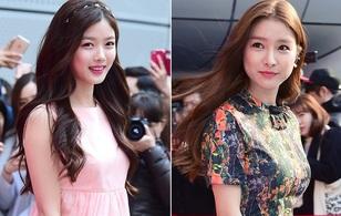 """Kim Yoo Jung xinh như thiên thần đọ sắc """"Cháo"""" Kim So Eun tại Tuần lễ thời trang Seoul"""
