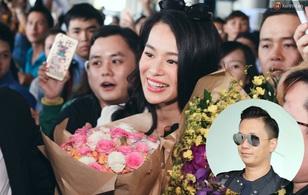 Hồ Hạnh Nhi cùng chồng mới cưới đến Việt Nam, rạng rỡ trong vòng vây fan