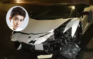 Siêu xe Lamborghini của Lý Dịch Phong gặp tai nạn thảm khốc trong đêm