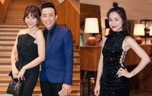 Trấn Thành tình tứ ôm Hari Won, Hòa Minzy khoe eo gợi cảm trong sự kiện