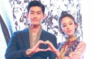 Cặp đôi Trương Hàn - Cổ Lực Na Trát lần đầu xuất hiện tình tứ trước báo giới