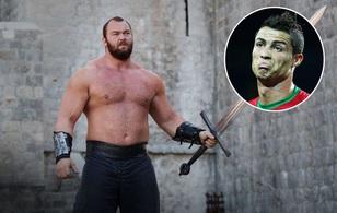 """""""Ngọn núi"""" trong """"Game of Thrones"""" dọa bóp vỡ sọ Ronaldo"""