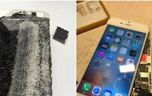 Người ta đã dựng một chiếc iPhone 6 từ nát bươm thành mới cứng như thế nào?