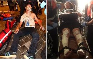Các nạn nhân hoảng loạn trong vụ nổ tàu chở khách ở Đài Loan