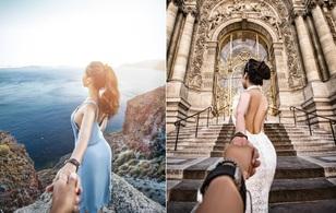 """Bộ ảnh long lanh của cặp đôi Hà Thành vô cùng """"chịu chơi"""" khi """"Nắm tay em đi khắp... châu Âu"""""""