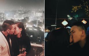 """Châu Bùi và Hà Lade cùng """"khóa môi"""" tình cảm với bạn trai trong đêm giao thừa"""