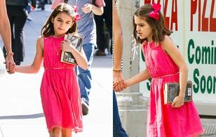 Sinh nhật 10 tuổi, bé Suri diện đồ đẹp nhưng buồn thiu vì vắng bố Tom Cruise