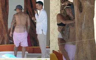 Justin Bieber khoe vòng 3, ôm hôn bạn gái mới nồng nàn