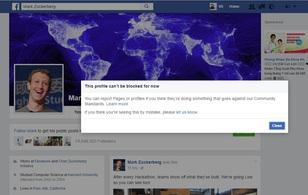 Điều bất ngờ gì sẽ xảy ra khi block tài khoản Facebook của Mark Zuckerberg?
