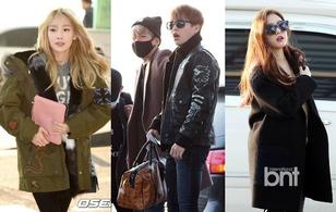 EXO, Taeyeon cùng dàn nghệ sỹ đình đám đổ bộ sân bay, chuẩn bị dự MAMA 2015