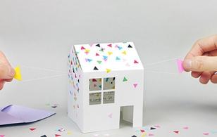 Thích thú và bất ngờ với thiệp 3D hình ngôi nhà đầy sáng tạo